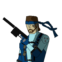 My pixel art of Solid Snake